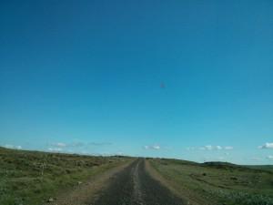 Ein Stück Schotterpiste neben der Ringstraße in Island