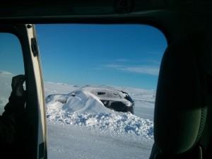 Kann im Winter schnell passieren: Abseits der Straßen stecken geblieben...