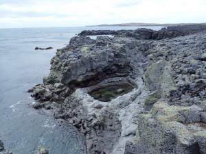 Natürlicher Pool an der Südküste bei Grindavik
