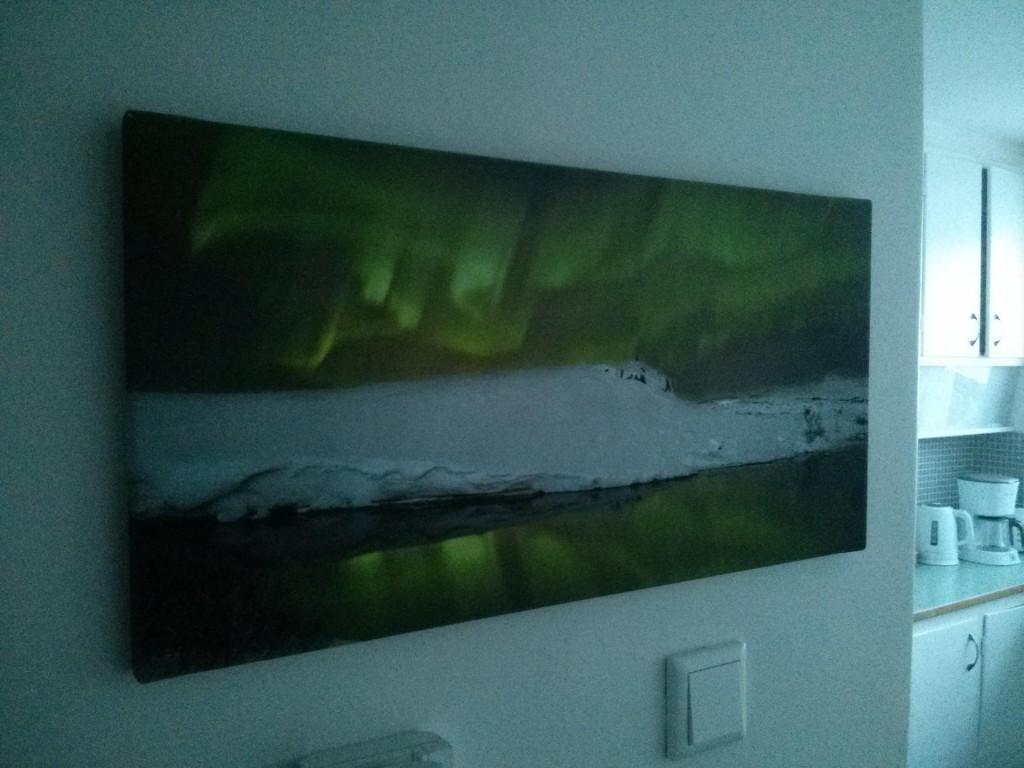 Ein Bild von Nordlichtern in meinem AirBNB Apartment