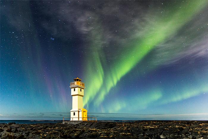 Nordlicht / Polarlicht bei Akranes, Island