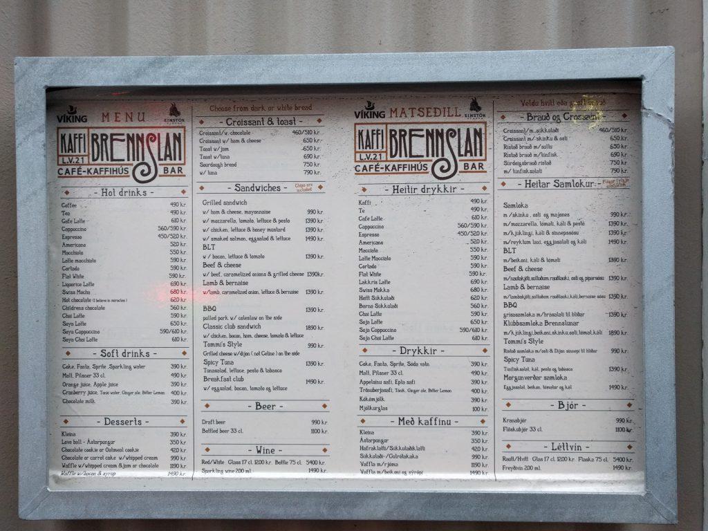 Island Restaurant Preise Kosten