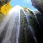 Wasserfall in Island: Gljufrafoss
