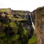 Wasserfall in Island: Glymur