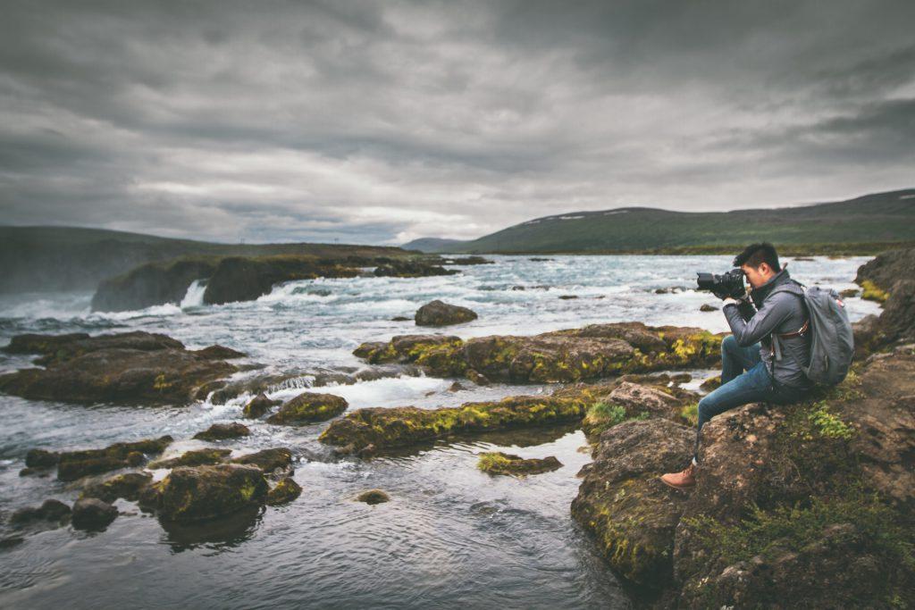 Wasserfall in Island: Goðafoss