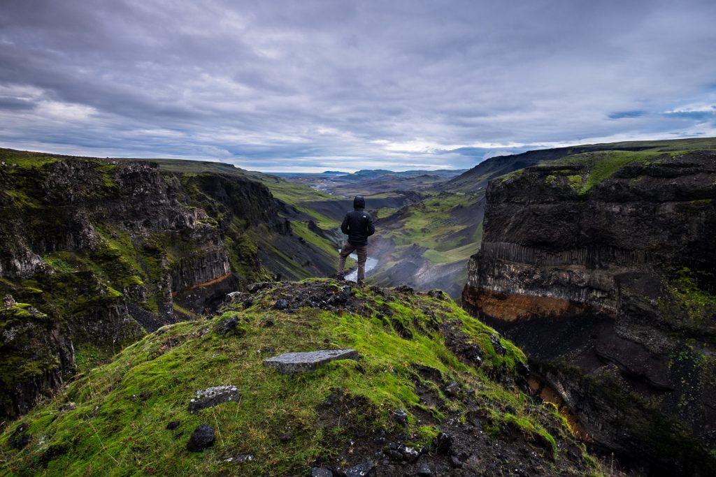 Wasserfall in Island: Háifoss