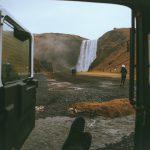Island Wasserfall Skógafoss
