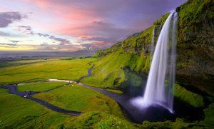 Island Wasserfall Seljalandsfoss