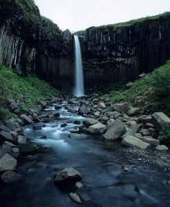 Wasserfall in Island: Svartifoss