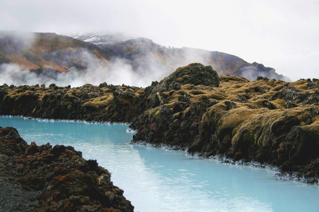 Bei der blauen Lagune in Island…