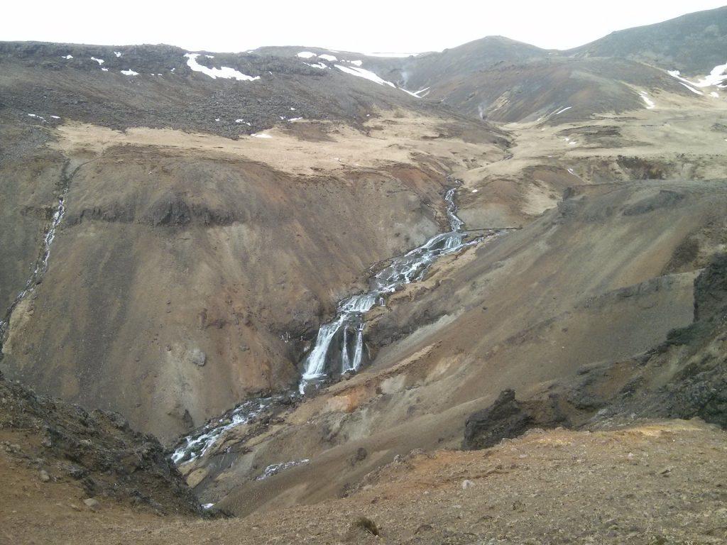 Wasserfall im Reykjadalur