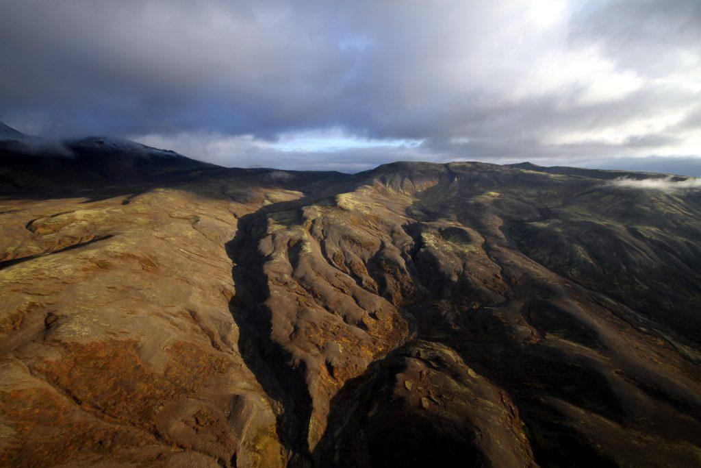Island Rundflug mit dem Hubschrauber: Auf in's Umland rund um den Wasserfall Glymur