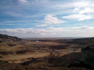 Aussicht am Geothermalgebiet Reykjadalur in Island
