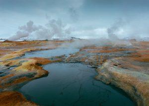 Das GeothermalgebietHverarönd / Hverir in der Myvatn Region in Island