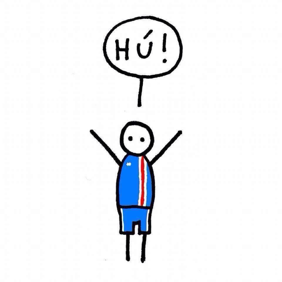 Der Schlachtruf im isländischen Fußball: Hu!