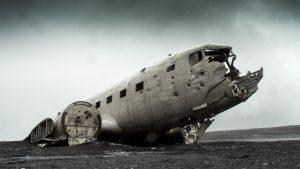 Das berühmte Flugzeugwrack an der Südküste Islands