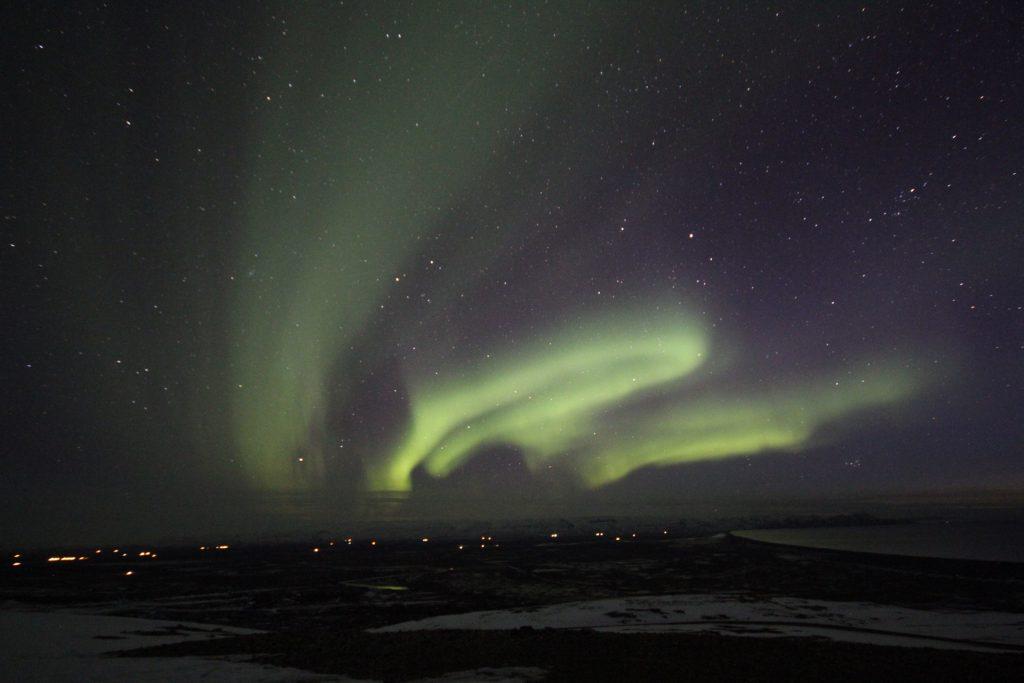 Nordlichter über Borgarfjörður Eystri
