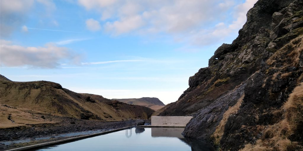 Seljavallalaug Schwimmbad in Island