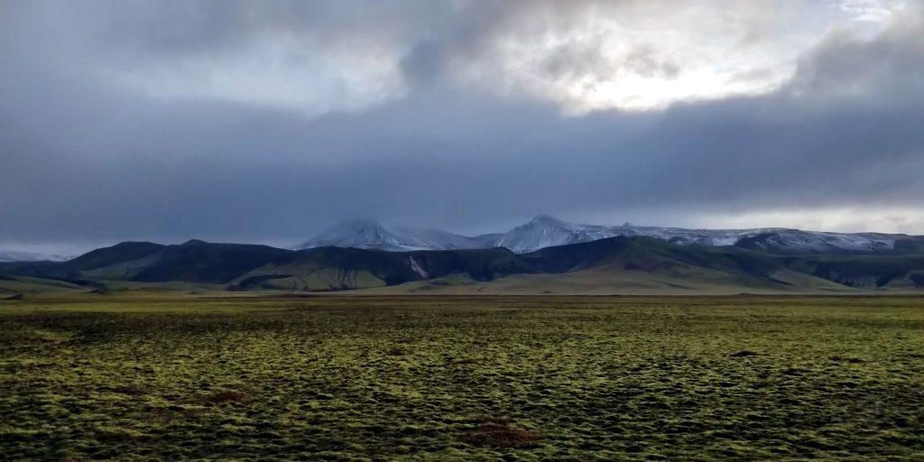 Ein Lavafeld bei Landmannalaugar